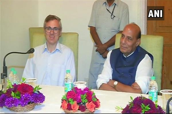 HM Rajnath Singh met NC delegation headed by former CM Omar | KNO
