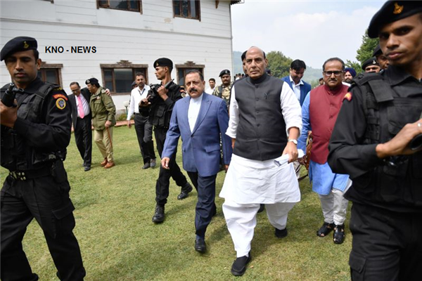 Kashmir's permanent solution issue based on 5Cs : Rajnath | KNO