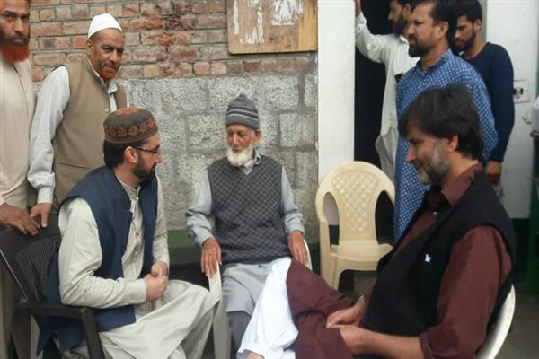 Mirwaiz, Malik Meets Geelani Today | KNO