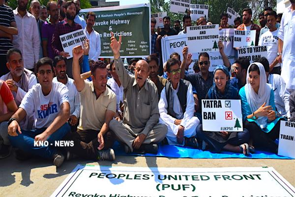 PUF begins three day sit-in to demand tunnel for Karnah, Gurez | KNO
